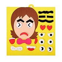 TOYMYTOY 表情ステッカー 組み立てパズル DIY おもちゃ 顔の表情パズル 幼児絵本 知育玩具 保育園 幼稚園 プレゼント 贈り物