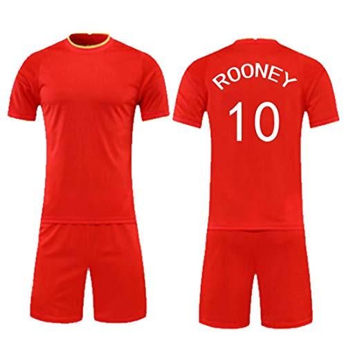 YUUY Fußball Uniform Training Anzug Wayne Rooney # 10 Fans Jersey for Kinder Erwachsene, Kinder Geschenke (Color : B, Size : Adult-XL)