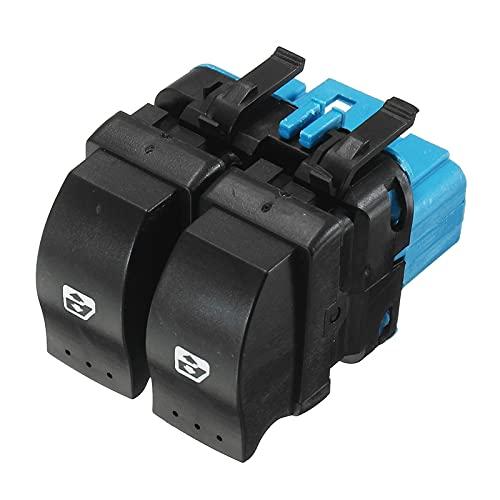 QCYSTBTG Interruptor Elevador de Ventana eléctrico de 10 Pines 8200107772, para Accesorios Renault Megane II 2 Scenic II Grand Scenic II 2002-2009
