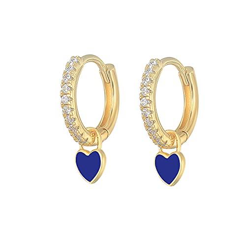 SEARCH Orecchini smaltati colorati orecchini da Donna con anello al Neon orecchini-6