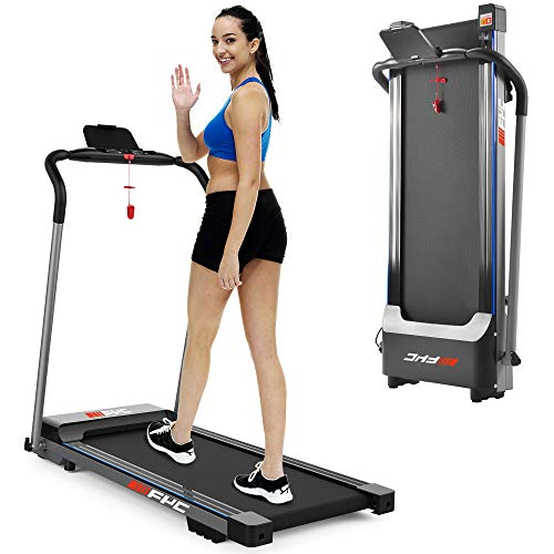 FYC Folding Treadmill for Home - Lightweight Foldable Treadmill Portable Electric Motorized Treadmill Running Exercise Machine Compact, Gym Fitness Workout Jogging Walking for Apartment Home Use