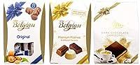 ベルジアン チョコレート ベルギー産 (シーホースチョコレート135g プラリネミックス160g スクエアダークカプチーノ176g) 3種セット