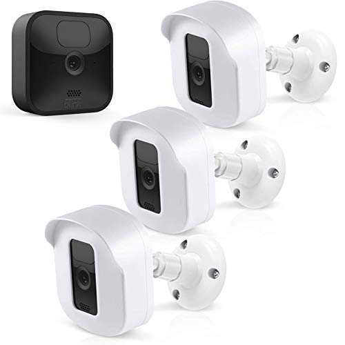 Blink Outdoor Camera Wall Mount Bracket, Full Weatherproof Housing Cover/Mount with Blink Sync Module Outlet Mount for Blink XT2/XT Indoor Outdoor Cameras Security System (White, 3 Pack)