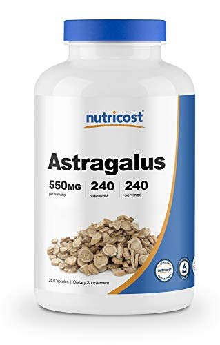Nutricost Astragalus Capsules 550mg, 240 Capsules - Non-GMO and Gluten Free