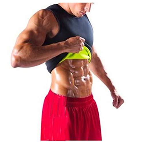 Lenfeshing Chaleco para Hombre para Perder Peso Corsé Caliente Entrenador en la Cintura Camisa para Adelgazar Entrenamiento