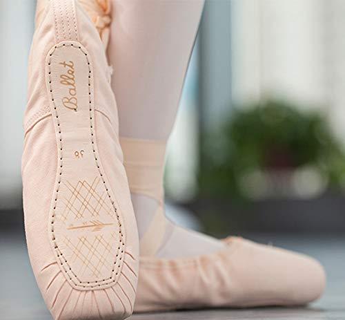 XLH Correas de satén Zapatos de baile de ballet Zapatos de danza de los niños Zapatos de silicona libre de la manga de la práctica de las señoras de