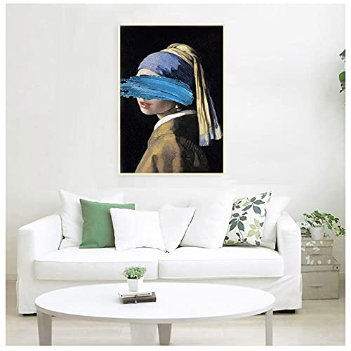 Printed Matter Frameless Wall Art Gift Decorationthe Girl Pearl Earring Canvas Paintings Famous Artwork By Art Prints Wall Pictures For Home Decor-50*70Cm_No_Frame