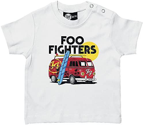 Foo Fighters Van Baby Unisex T-Shirt Bianco 68/74 100% Cotone (Cotone Biologico)