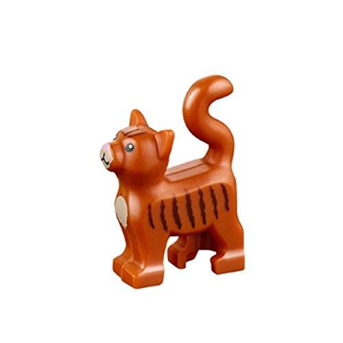 LEGO Animal Standing Cat Kitten Dark Orange Pet from Minifigures Friends x1 Loose