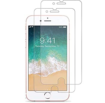 RKINC Screen Protector for Apple iPhone 7 8 Tempered Glass Screen Protector[0.3mm 2.5D][Bubble-Free][9H Hardness][Easy Installation][HD Clear] forApple iPhone 7 8 2 Pack
