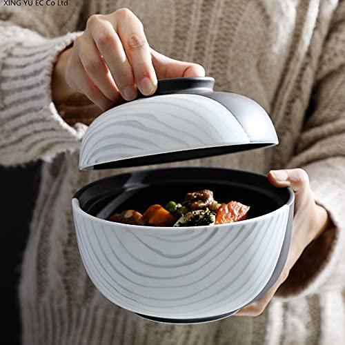 Tazón de cerámica creativa, cuenco de cocina para el hogar, suministros de cocina, microondas, cerámica, ensalada de frutas, cuenco de sopa de cerámica simple (color: 1 pieza de 6.5 pulgadas)