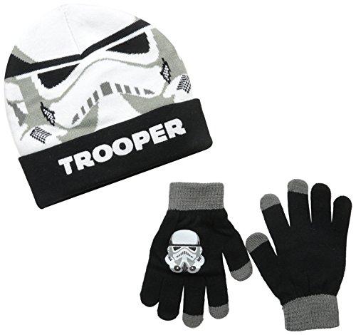 Star Wars Storm Trooper Kids Size Cuffed Beanie and Glove Set