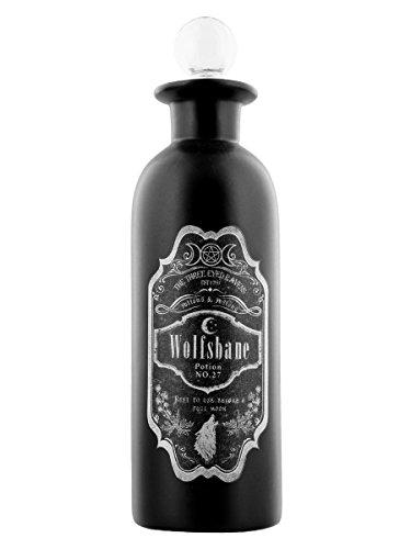 Nemesis Now Wolfsbane - Botella de poción (21 cm), color negro