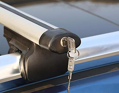 Awsgtdrtg Aluminium Universele Auto Dakdragers Cross Bars Met Kayak Lading Bagage Ski Rack Gemonteerd Op Daktop 150 Kg