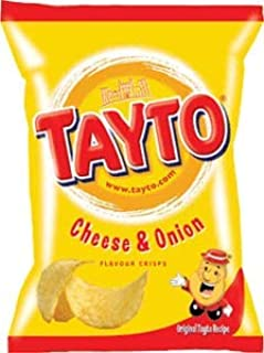 Tayto Cheese & Onion (Northern Ireland) 37.5g chips x 8 pack Imported from Ireland