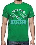 latostadora - Camiseta Este Tipo Va A para Hombre Verde Pradera XXL