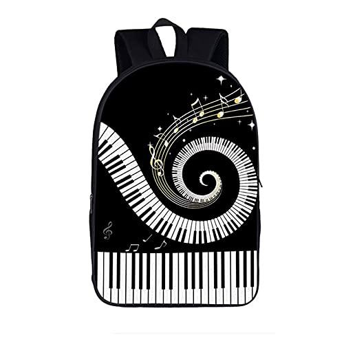 Schöner Musik-Kinderrucksack Jungen und Mädchen Casual Schultasche Cartoon Klavier Violine