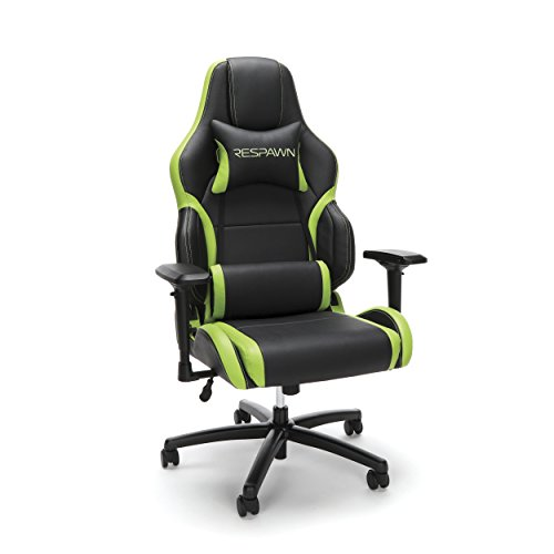 RESPAWN 400 Big and Tall Racing Style Gaming Chair, in Green 300 chair gaming green in Racing RESPAWN Style