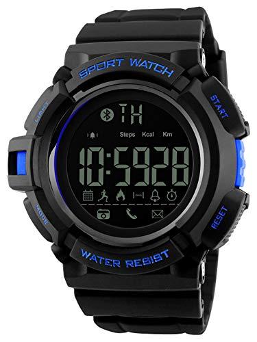 Smartwatch Armbanduhr Herren Fitness Tracker Schrittzähler 5ATM Wasserdicht Kalorienzähler Militär Sport Alarm
