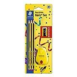 STAEDTLER 120 SBK3P2 Noris Edición Limitada Feliz Aniversario - Blister con 3 lápices de grafito Noris HB de Grafito,...
