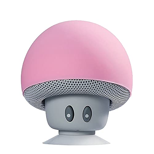 Portable Small Head Wireless Bluetooth Speaker Silicone Suction Cup Speaker (Pink)
