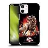Head Case Designs Ufficiale Jurassic World T-Rex VS. Velociraptors Arte Chiave Cover Dura per Parte Posteriore Compatibile con Apple iPhone 12 Mini