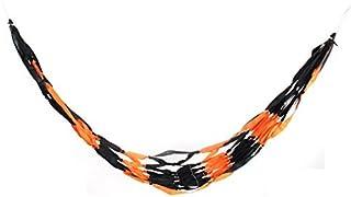 eDealMax Home Campeggio Libero Outfitter annodata Netto Amaca Base di sonno Nero Arancione