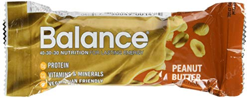 Balance Bar, Healthy Protein Snacks, Peanut Butter, With Vitamin A, Vitamin C, Vitamin D, and Zinc to Support Immune Health, 1.76 oz, 6 Count