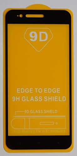 3X Full Cover Schutzglas für Xiaomi Mi A1 / Mi 5X in Schwarz Glasfolie 9H 5D 6D 9D Bildschirmschutzfolie Glass Premium Tempered Glass Protection (kein 3D Glas)