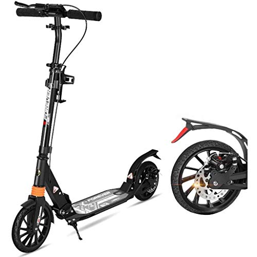 Learn More About SJYDQ ZCHAN Children Scooter- Scooter for Kids Foldable Wheel Light Up Kick Scooter for Girl Adjustable Height Gift for (Color : Black)