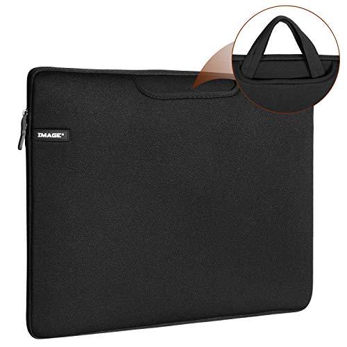 Schutzhülle für A3 Leuchtplatte, IMAGE 17 Zoll Tragetasche Reisetasche Aufbewahrungstasche Hülle mit Taschen, für LED Zeichenblock Malplatte & Laptop, Notebook, MacBook Air (Schwarz)