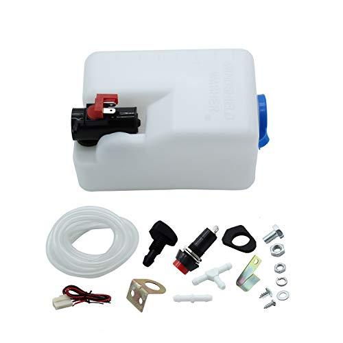 TAKPART 12V Universal Windshield Washer Pump Bottle Tank Kit Windscreen Washer Bottle