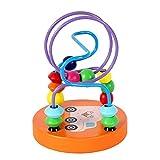SunnyClover Juguetes educativos para bebés creativos de ábaco con cuentas, laberinto de madera de montaña rusa, juguete para niños y bebés, 1 unidad