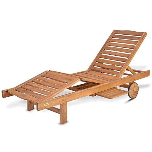 Hecht Sonnen-Liege Resort A Lounger Gartenliege aus Akazienholz