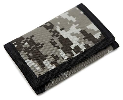 Schmales Portmonee / Geldbörse für Kinder, RFID-Schutz, dreifach gefaltet, Camouflage, Leinen, Outdoor / Sport Xcamouflage S