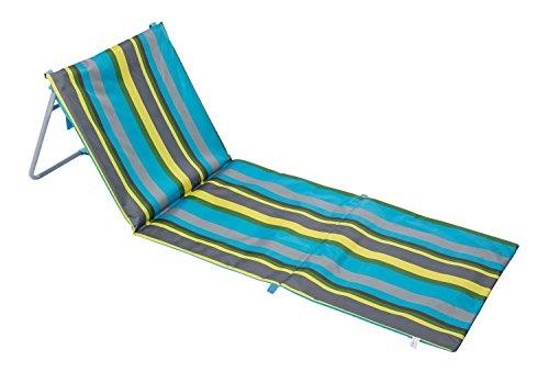 Idena Strandliege klappbar, mit Rückenlehne, 162 x 58 cm, blau gestreift, 10037599