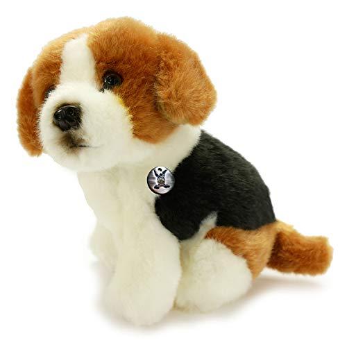 Kuscheltiere*biz Beagle Fritz Foxhound - Peluche a forma di cane seduto