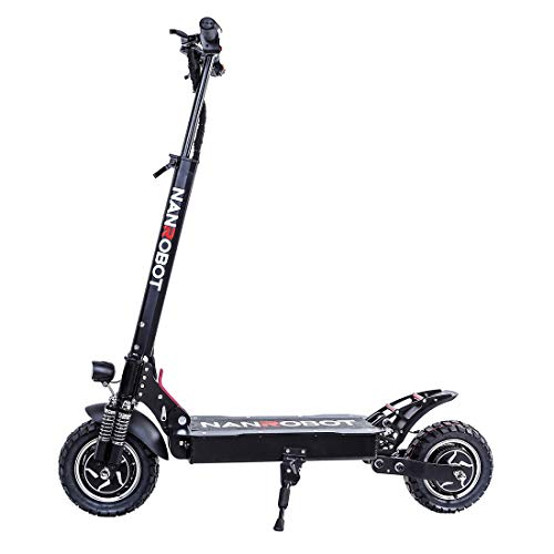 NANROBOT D4+ Electric Scooter -2000W Motor 10' Off-Road Tires Up to 45 Mile & 40 MPH, Foldable Adult...