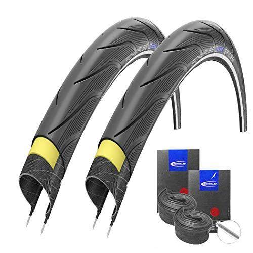 Reifenset : 2 x Schwalbe SPICER Reflex 30-622 / 28x1.20 + Schwalbe Schläuche Autoventil