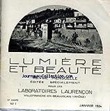 LUMIERE ET BEAUTE [No 1] du 01/01/1934 - VILLAGE DE CERDON.