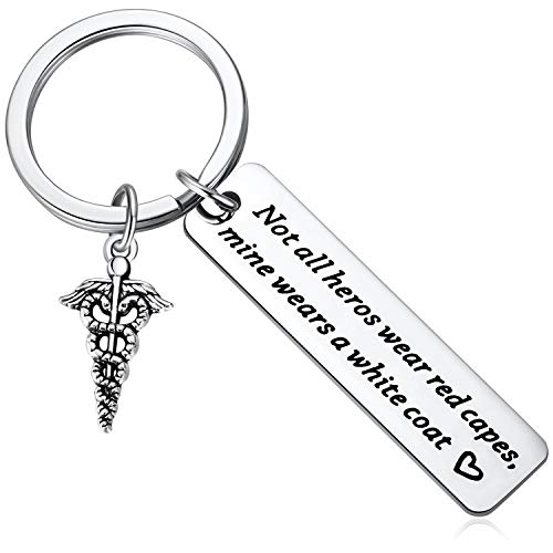 Gift Idea for Dentist, Dental, Pharmacist, Medical, Hygienist, Doctor, Physician, Nurse, White Coat Ceremony PA Key Chain - Perfect Birthday and Graduation Gifts for Men or Women