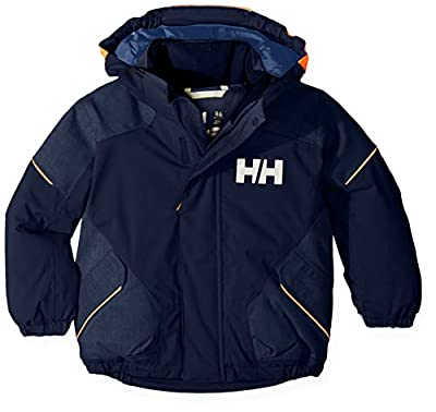 Helly Hansen Kids & Baby Snowfall 2 Waterproof Breathable Fully Insulated Ski Jacket, 597 Navy, Size 3