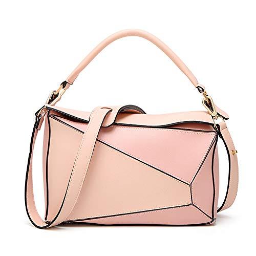 WYFDM Fashion Lady Sac à Main en Cuir PU fourre-Tout à bandoulière poignée Sacs pour Une variété d'occasions,Pink