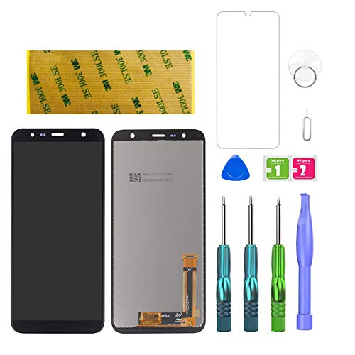 LWMTT Display für Samsung Galaxy J4 Plus / J6 Plus 2018 Schwarzes Touchscreen Display SM-J415F J415G J415M, Ersatz Touch Digitizer LCD + Komplettes Reparatur Tool Kit