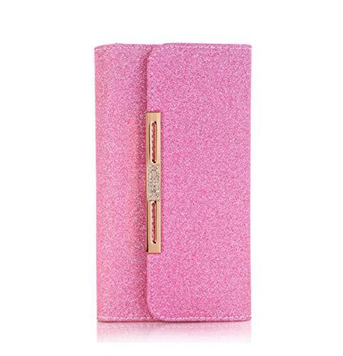 Voor iphone XR Case,2 in 1 Afneembare Flip Wallet Cover Glitter Schoudertas met Kaarthouder voor iphone XR