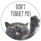 Mauspad mit Katzen-Motiv und Spruch I Ø 22 cm rund I Mousepad in Standard-Größe, rutschfest I für Mädchen Teenager Frauen I Dont forget me I dv_467