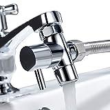 tecmolog 3 vie deviatore rubinetto ottone valvola deviatore con adattatore m22 a m24, rubinetto splitter per cucina o bagno, sba021c