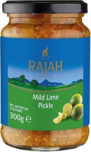Rajah Mild Lime Pickle – Mild eingelegte Limetten – Ideal als Begleitung zu Curry, Fleisch, Käse, Poppadums & Vorspeisen – 1 x 300 g