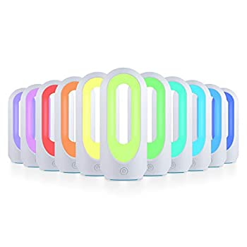 Enbrighten Color-Changing LED Lamp Modern Night Dimmable White & Vibrant RBG Dorm Essentials Ideal for Home Office Gaming Bedroom Kids Room Reading Light 49632 White