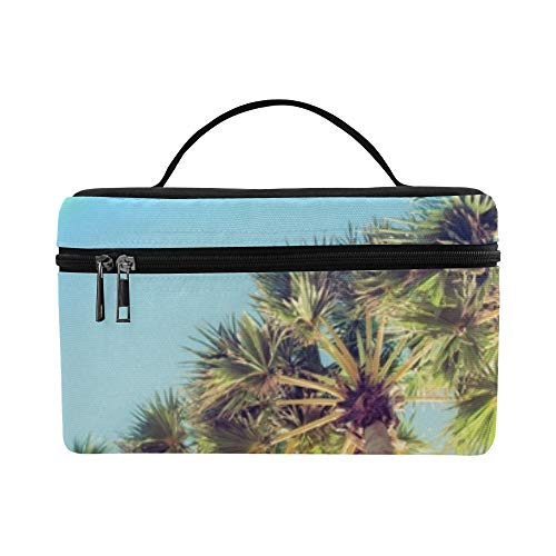 Palm Tree Rainbow Lunch Box Tote Bag Lunch Holder Insular Lunch Cooler Bag Para mujeres/hombres/picnic/canotaje/playa/pesca/escuela/trabajo